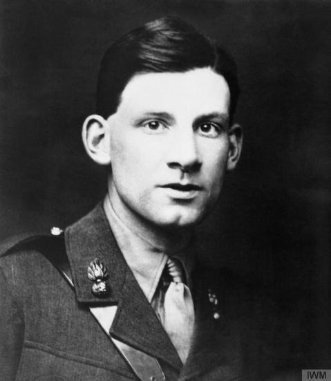 Image © IWM (Q 101780) – Siegfried Sassoon in uniform, whilst serving with the Royal Welch Fusiliers.